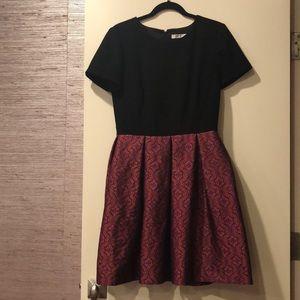 Trina Turk Black/Pink Metallic Dress Size 8
